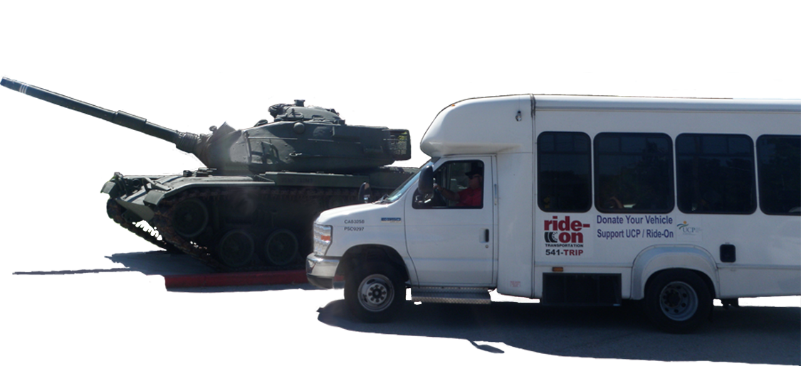 Veterans Express & Ride On Transportation Shuttle and Tank